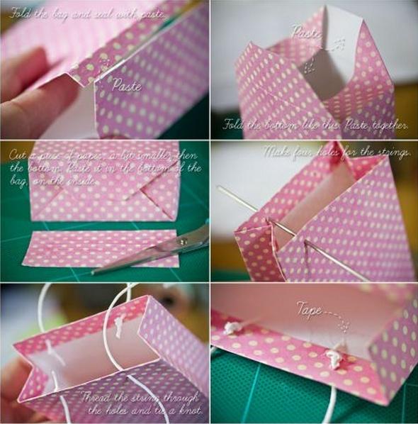 Kağıt çanta yapabilirsiniz.-Annelik Okulum