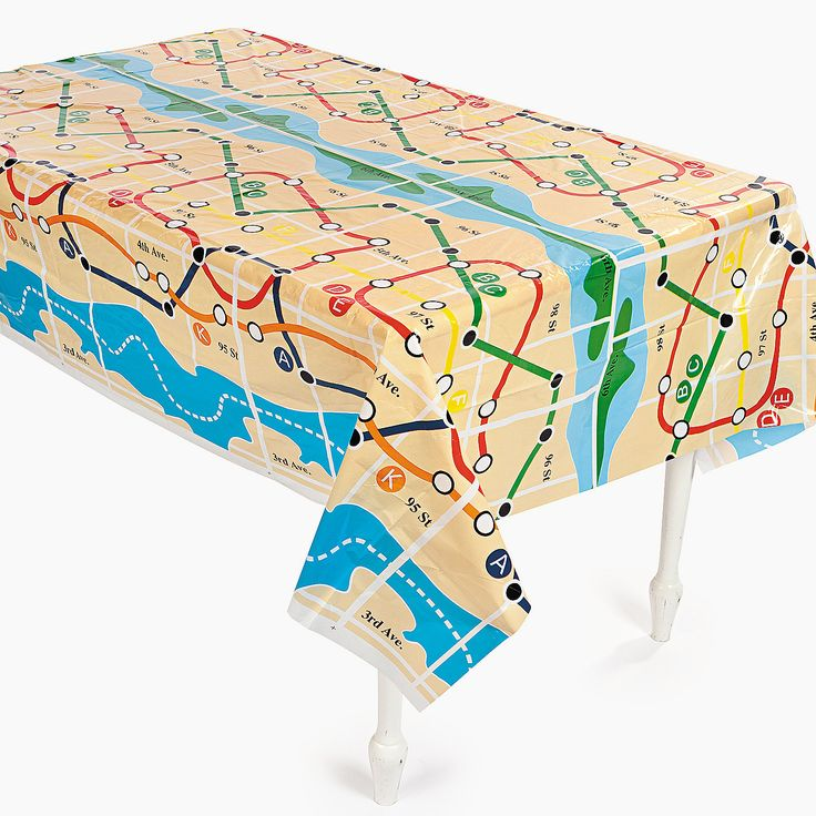 New York Subway Map Tablecloth Orientaltrading Com