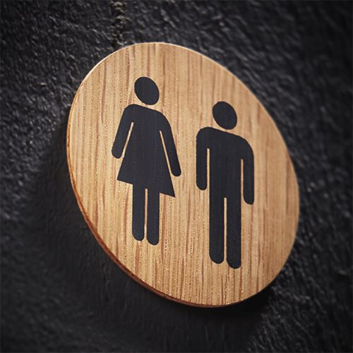 The Holt pictogram signage is crafted in the UK from FSC accredited oak and then precision finished with 5% matt interior lacquer. The pictograms artwork is screen printed upon the signage disc and double side self-adhesive tape is applied to the reverse ready for installation.