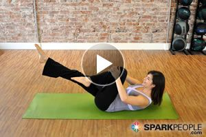 Tighten and flatten your tummy with this 12-minute #Pilates #abs #workout from @SparkPeople & @Coach Nicole
