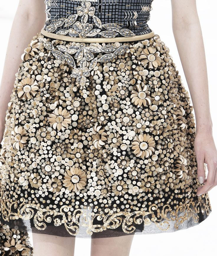 """myprada: """"sleepise: """"kurkova: """" Embroidery detail from the winter 2014 Chanel haute couture collection """" fashion, models, art, and good atmosphere x """" fashion&models """""""