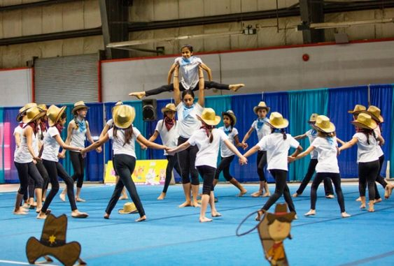 "Surrey's Cartwheels Gym performed to Blake Shelton's cover of ""Footloose"" at the Gymnaestrada event at Cloverdale Agriplex on Sunday, May 31."