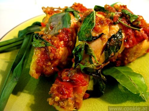 ayam rica-rica - chicken basil chillie sauce