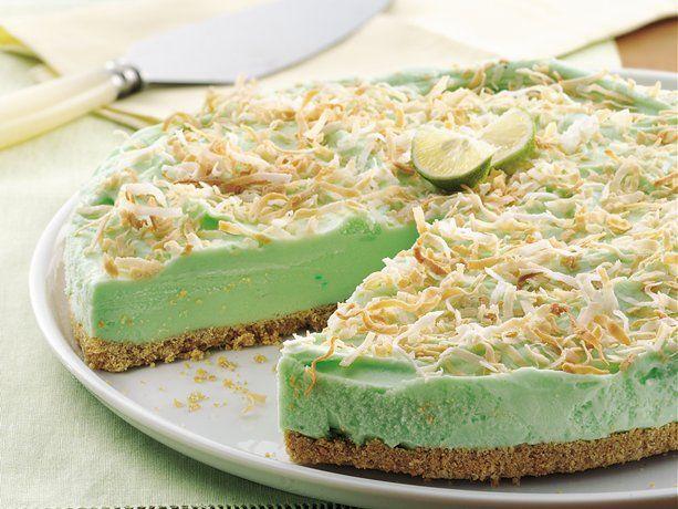 Frozen Key Lime Torte: Graham Crack Crusts, Crunchi Graham Crack, Limes Juice, Limes Torte, Frozen Keys, Fresh Limes, Keys Limes, Frozen Sherbet, Favorite Recipes