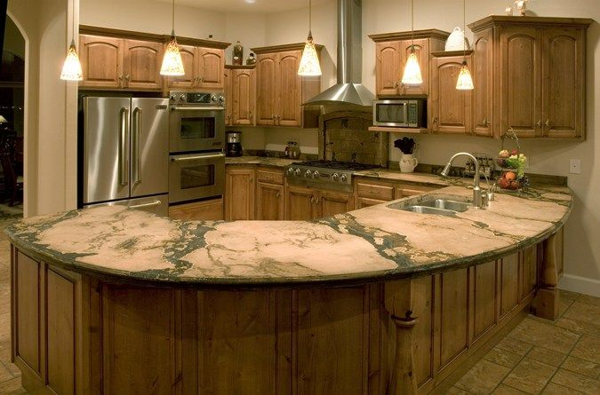 Kitchen Counter Peninsula Concrete Countertops