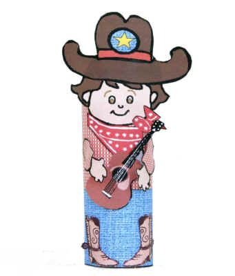 cowboy toilet paper roll craft