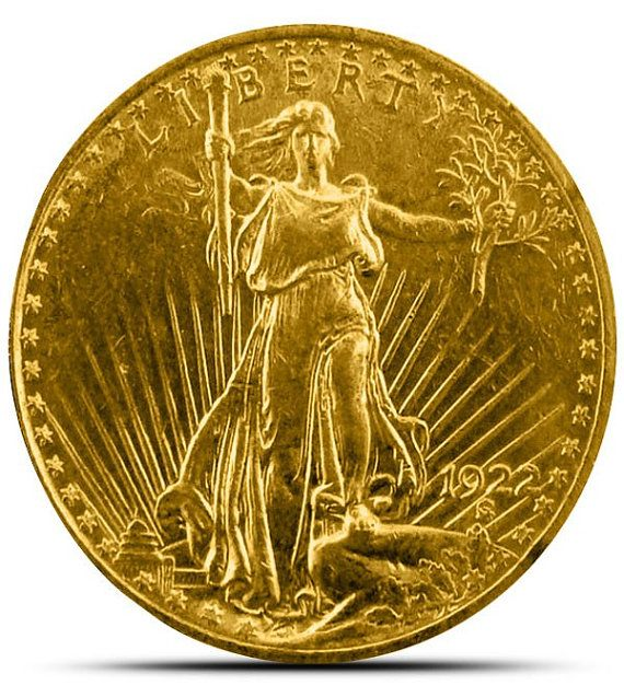 St Gaudens Gold double eagle 20 dollar face vale coin by SGBullion, $1615.00