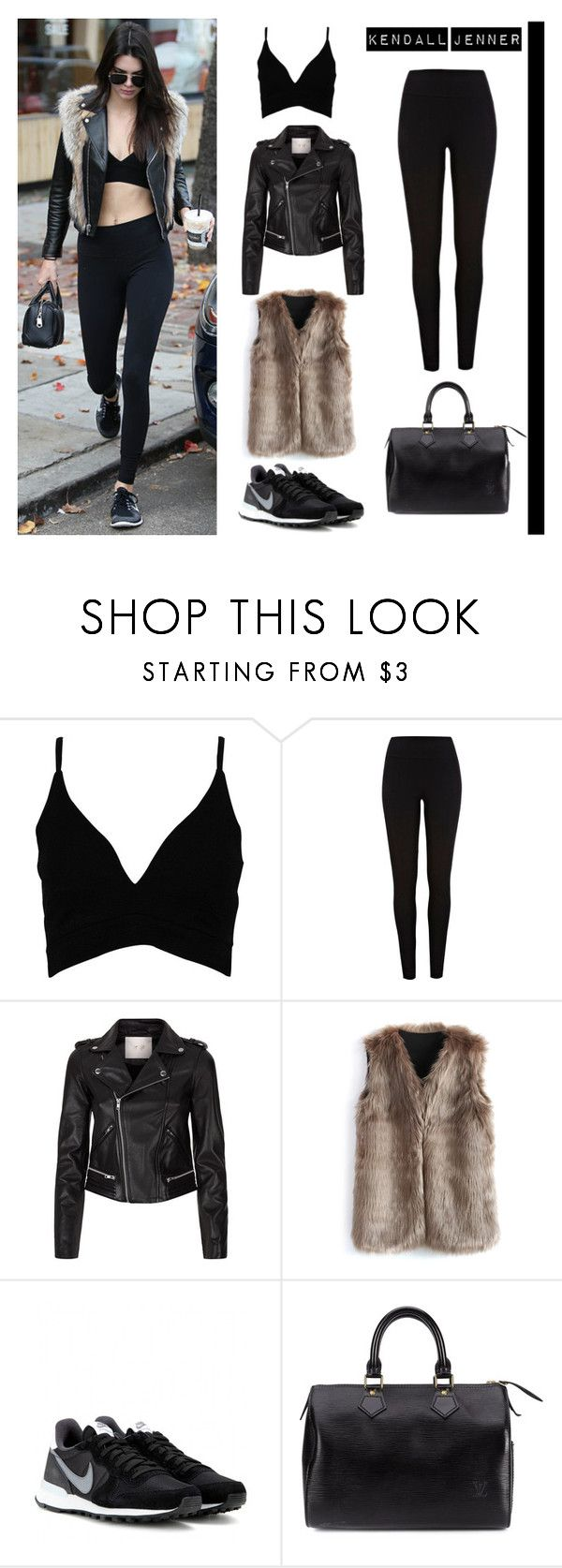 """""""Kendall Jenner"""" by eviejessup on Polyvore featuring Baldwin, River Island, Maje, Chicwish, NIKE and Louis Vuitton"""