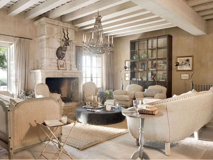Beige And White Living Room. With The Exception Of The Deer Head, I Love  Everything About This Space.
