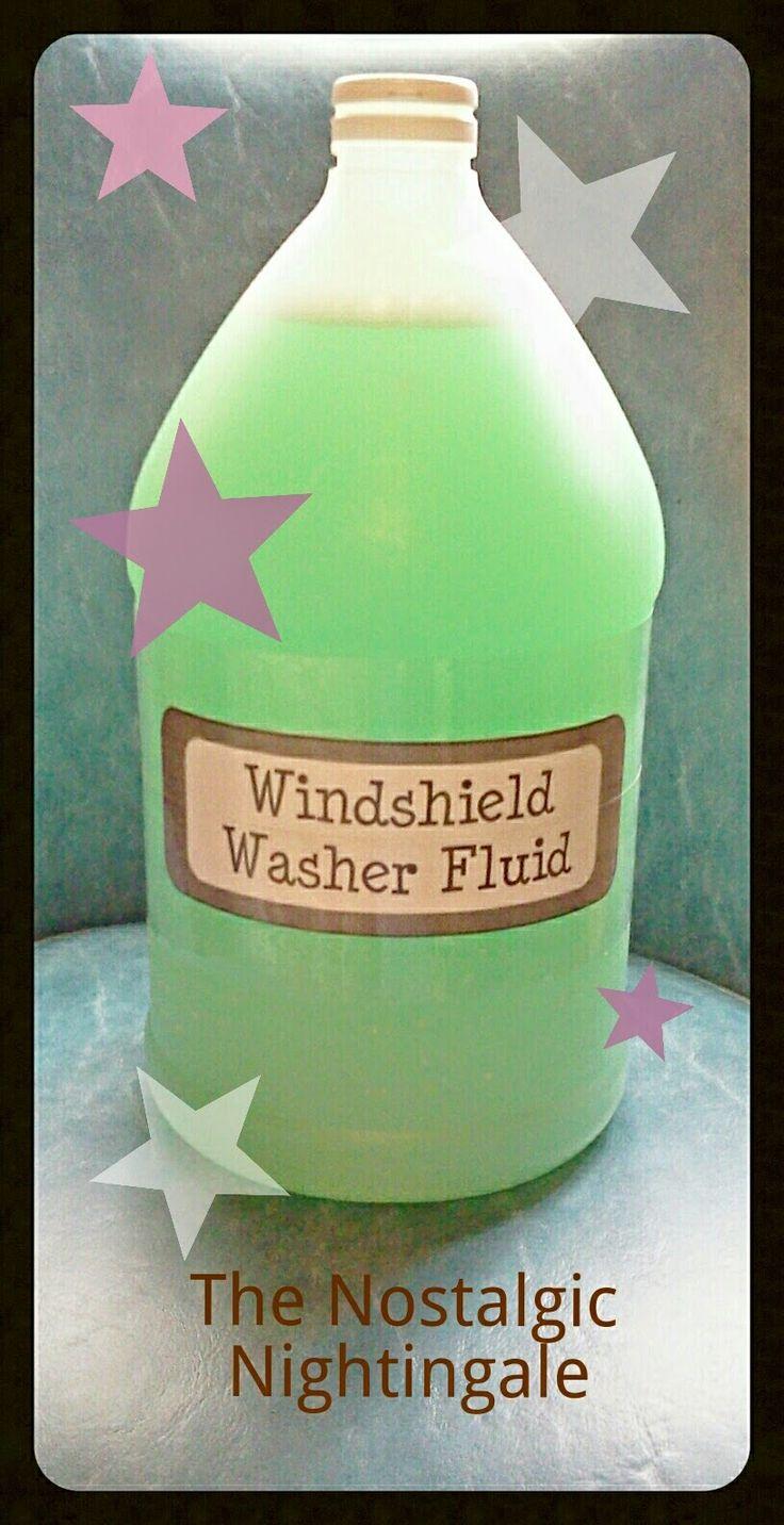 The Nostalgic Nightingale: Cleaning: Homemade Windshield Washer Fluid
