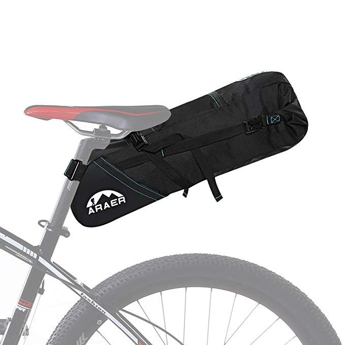 Araer Bike Saddle Bag Large Capacity 10l Safe Reflective Stripes