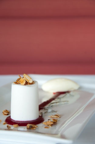 ... Calamansi-Cherry Coulis, Almond Ice Cream, and Candied Kaffir Lime