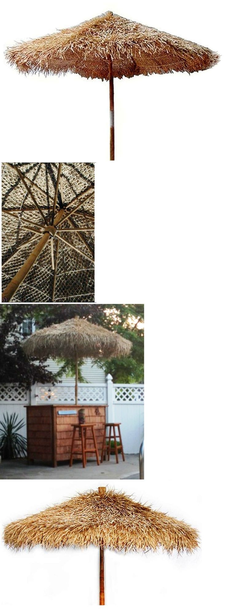 Umbrellas 180998: Bamboo Thatch Tiki Umbrella-For Patio Bar Palapa Set-Choice Of 3 Sizes And Stand -> BUY IT NOW ONLY: $249.99 on eBay!