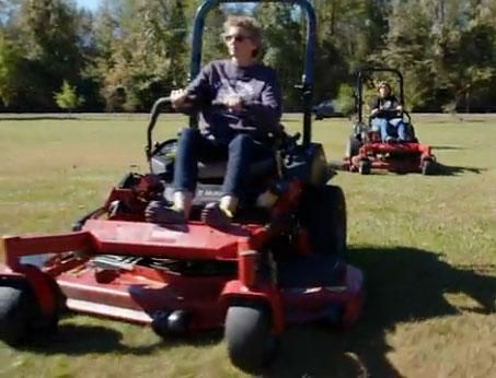 These sisters have so much fun mowing their yards in ease and comfort on their Toro zero-turn mowers, they volunteer to mow other yards in their area! Click the pin to watch a video for more on their story! Living the Country Life www.livingthecountrylife.com