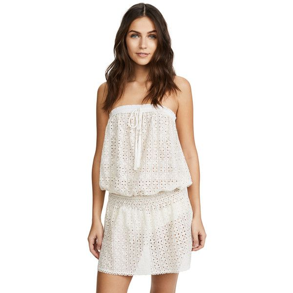 Melissa Odabash Adela Strapless Cover Up Dress (11.795 RUB) ❤ liked on Polyvore featuring swimwear, cover-ups, cream, melissa odabash cover up, strapless swimwear, swim cover up, cover up swimwear and melissa odabash swimwear