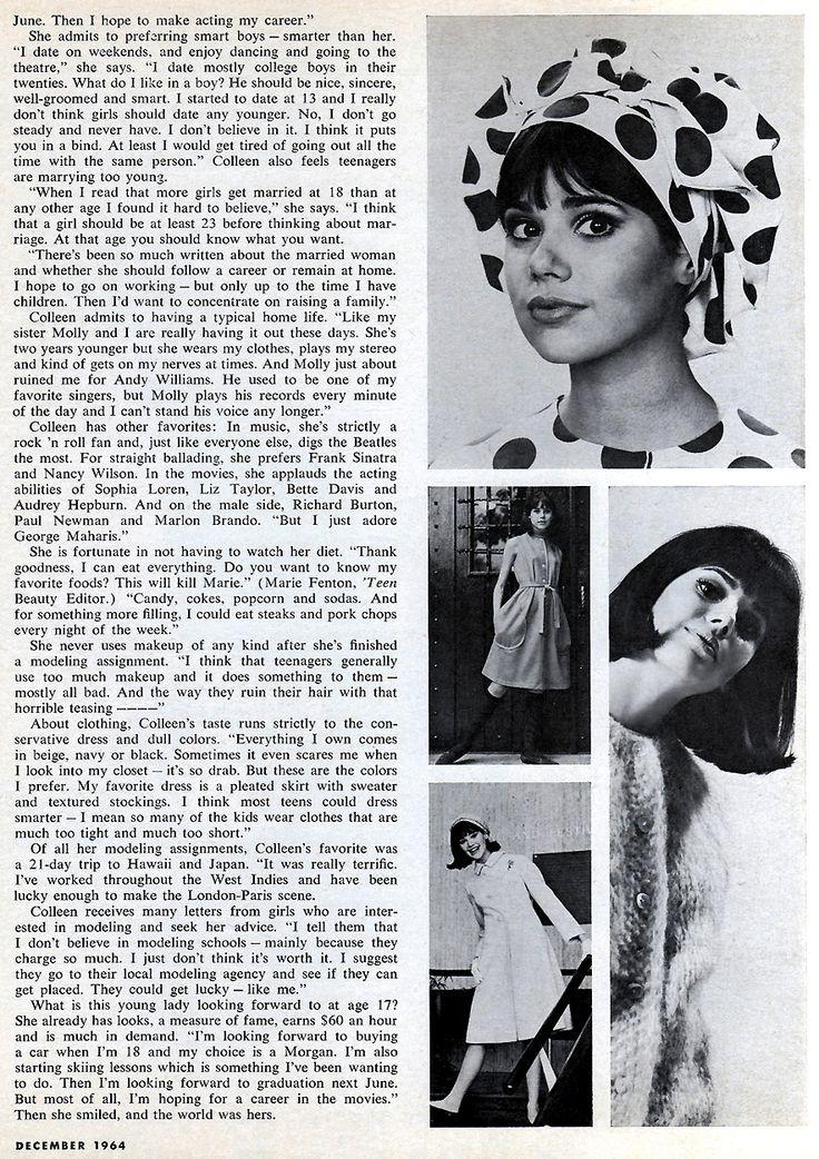 Colleen Corby Model | America's Number 1 Teenage Model! #2 ( 'Teen - December 1964)