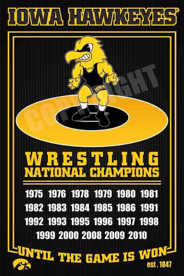 Iowa Hawkeyes Wrestling Dynasty Photo Framed