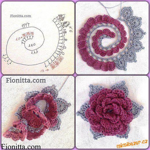 Háčkovaná květinka