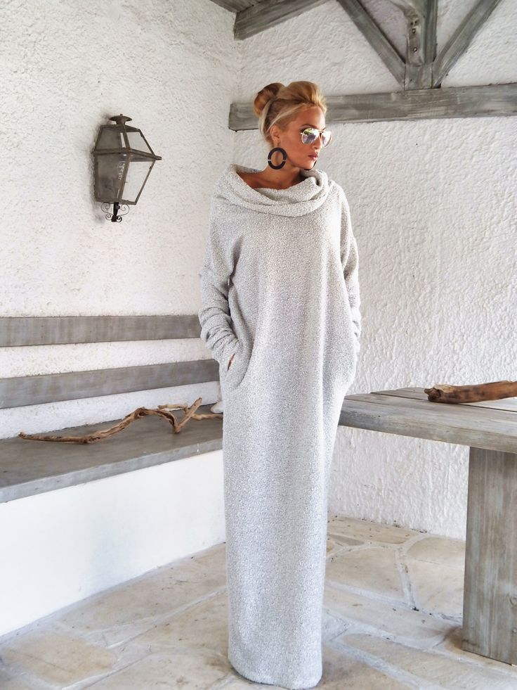 Off White Winter Wool Boucle Turtleneck Maxi Dress Kaftan with Pockets /  Winter Warm Long Dress / Asymmetric Plus Size Dress / #35148 by SynthiaCouture on Etsy https://www.etsy.com/listing/255864082/off-white-winter-wool-boucle-turtleneck