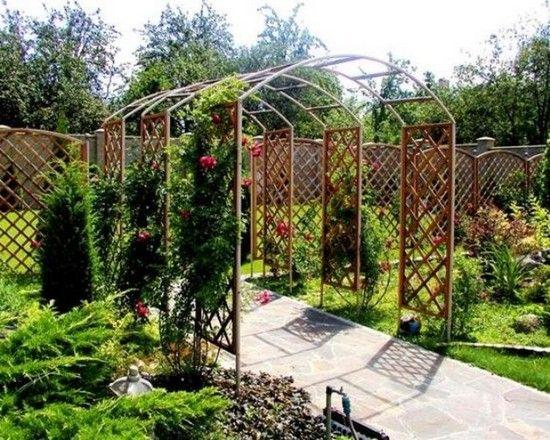 садовые арки для вьющихся растений