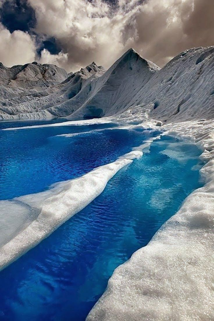 The Blue Waters of Patagonia, Chile...