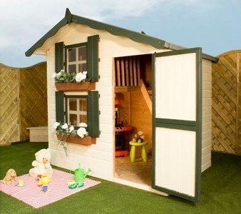 172 best playhouses images on pinterest playhouse ideas for Wooden wendy house ideas
