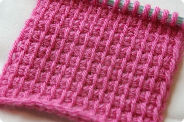 Tunisian crochet basic stitch tutorial at Crocheting the Day Away. So easy, I don't know why I've avoided it.