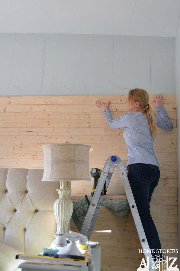How to diy a plank wall.