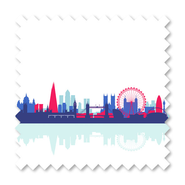 'City Scape, Rule Britannia' from our roller range.