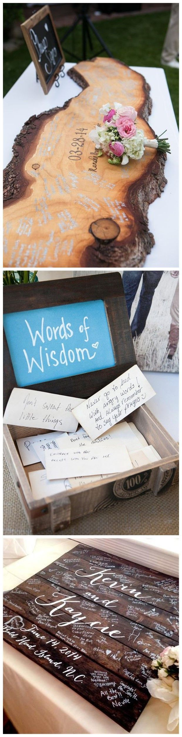 Wedding Decorations » 22 of Our Favorite Unique Wedding Guest Book Ideas » ❤️ More: http://www.weddinginclude.com/2017/05/unique-wedding-guest-book-ideas/