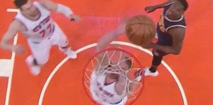 New York Knicks Hilariously Score On Own Basket
