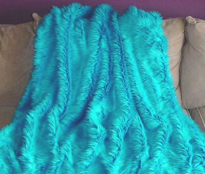 Shag Shaggy Long Pile Fake Faux Fur Fabric by the Yard Pink Blue White Ivory Tan Black Brown Turquoise Fuscia Orange Lime Green Sage Purple Kelly Royal Yellow Red