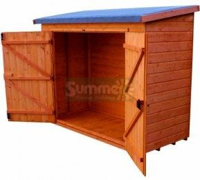 Shiplap Double Door Pent Roof Small Storage Shed