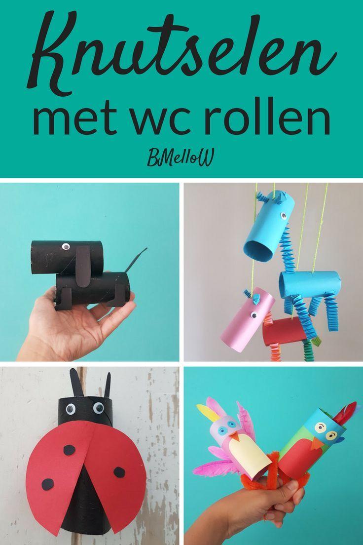 Basteln mit Toilettenpapier. Super lustige Ideen zum Basteln mit Toilettenpapier   – Knutselen met kinderen | Kids crafts
