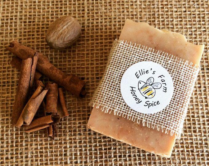 Honey Spice Soap, Handmade Soap, Soap, Natural Soap, Honey Soap, Gentle Soap, UK, Gift, Natural Skincare, Gift Soap, Soaps, Natural