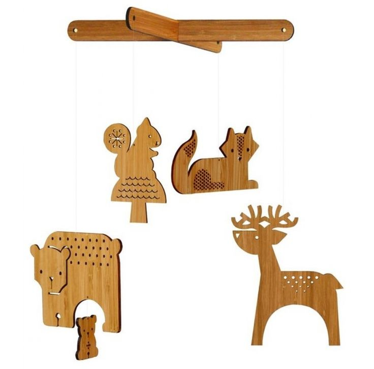 Petit collage mobile forest animals