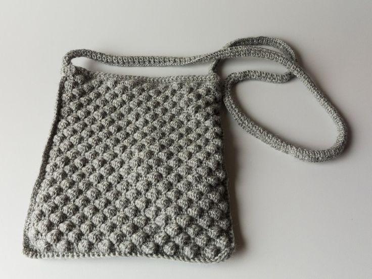 Hæklet taske til ipad eller diskotaske