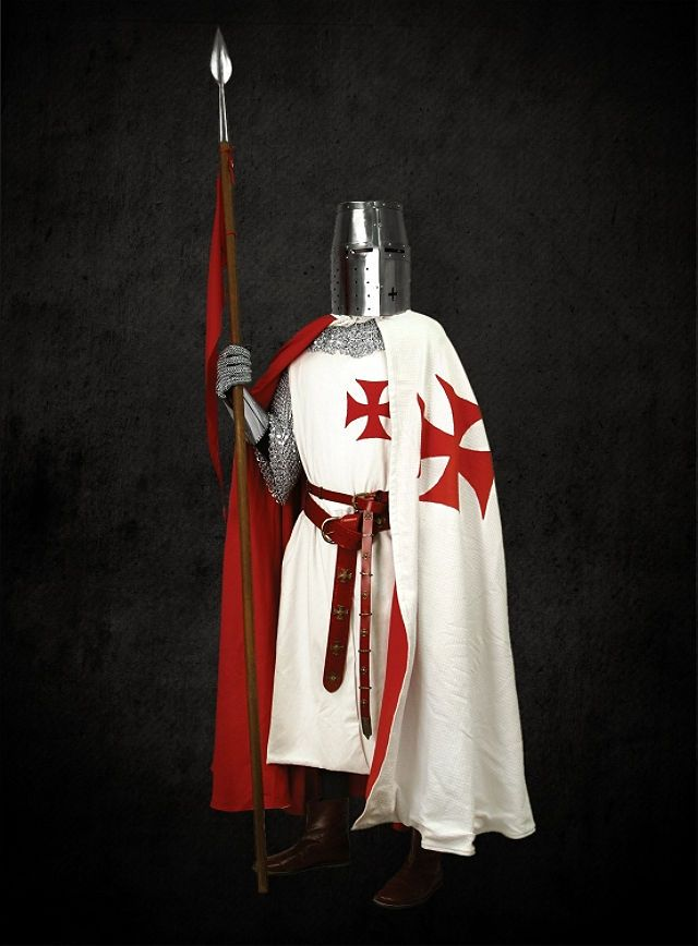 knights drinking | Costume - Cloak of the Knights Templar - TheVikingStore.co.uk