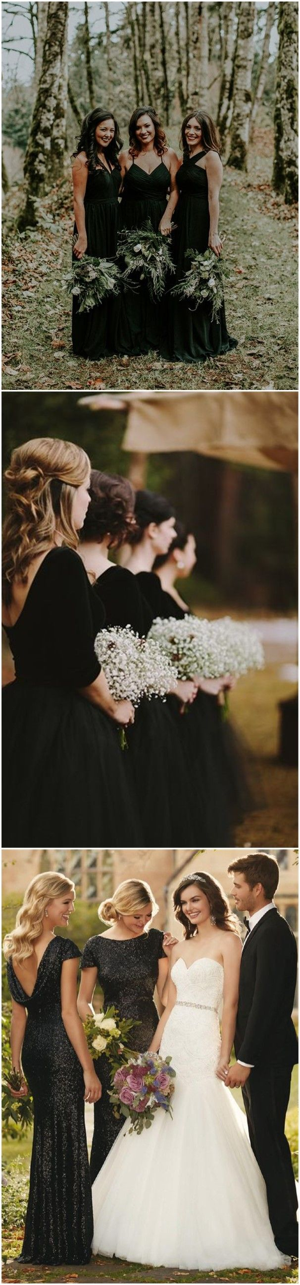 179 best bridesmaid dresses images on pinterest black dont miss these 22 black bridesmaid dresses for your fall and winter wedding ombrellifo Image collections