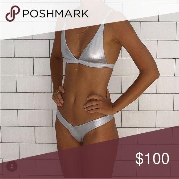 ISO fae swim silver bikini This in a small fae swim Swim Bikinis