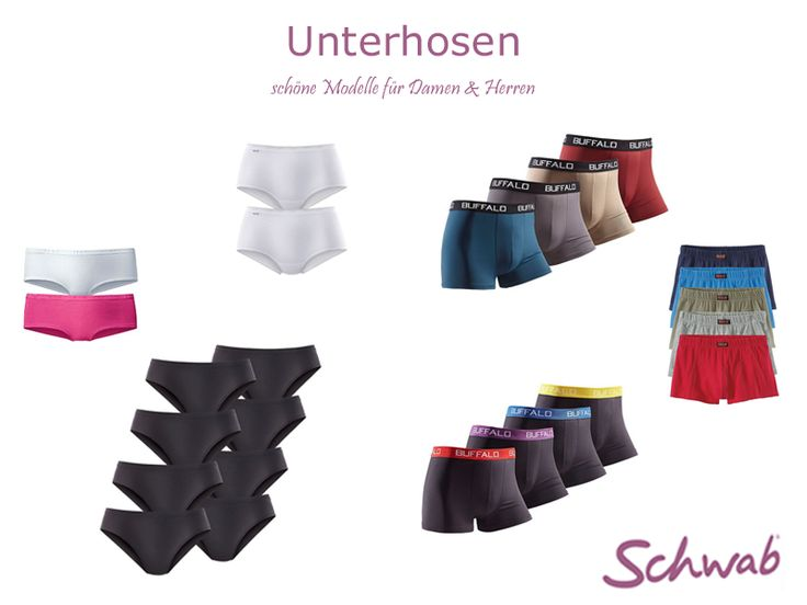 Bei Schwab gibt es #Unterhosen für Herren und Damen