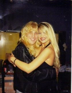 "Stevie Adler and Bobbie Brown ( You probably remember her as the hot chick from Warrant's video "" Cherry Pie "" ) ."
