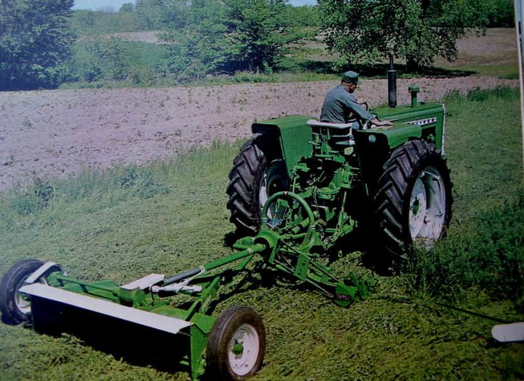 Sickle mower and crimper, both by Oliver. | Down on the ...