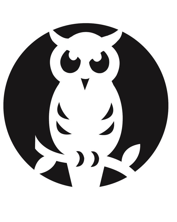 Free book folding patterns folded books pinterest for Spooky owl pumpkin stencil