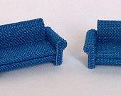 divano e poltrona con braccioli in tessuto scala 1/144