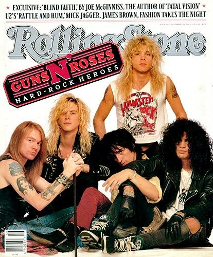 Guns N' Roses | November 17, 1988 (Courtesy of @Rolling Stone)