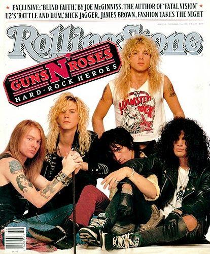 Guns N' Roses | November 17, 1988 (Courtesy of @Rolling Stone)