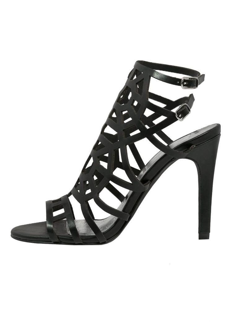 ELLE - MASPERO - Sandalen met hoge hak - noir