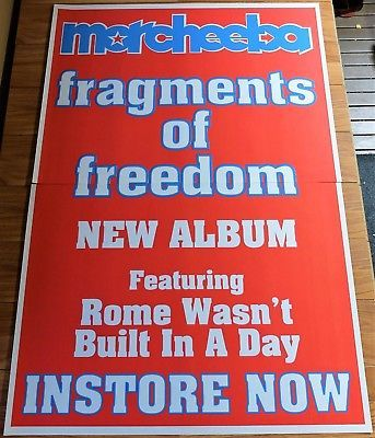 MORCHEEBA. 2 x Sheet Australian Promo Poster. FRAGMENTS OF FREEDOM Album. Rome Wasn't Built in a Day. 152 x 102cm. Lounge. Downtempo. Click on Pic to find in eBay Store.