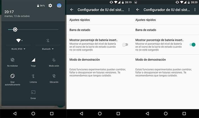 Nuevo menú secreto en Android Marshmallow: Configurar IU del sistema